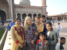 Me with one of many Indian families