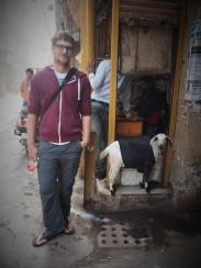 Callum and a goat