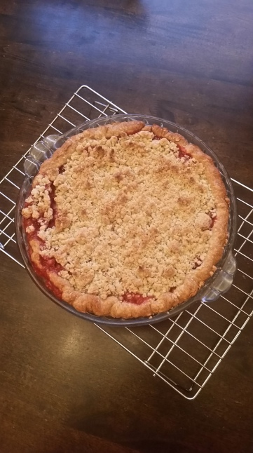 A very delicious strawberry rhubarb pie
