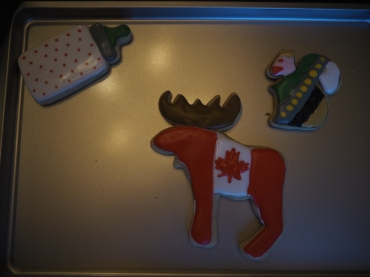 Callum did the moose! And, er, the squirrel. The bottle was Rachel's example to us.