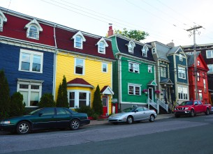 all the houses are so colourful in St. John's
