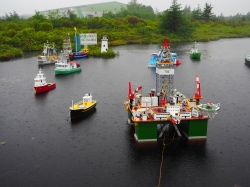 saw a little pond on the way to Witless Bay with these boats