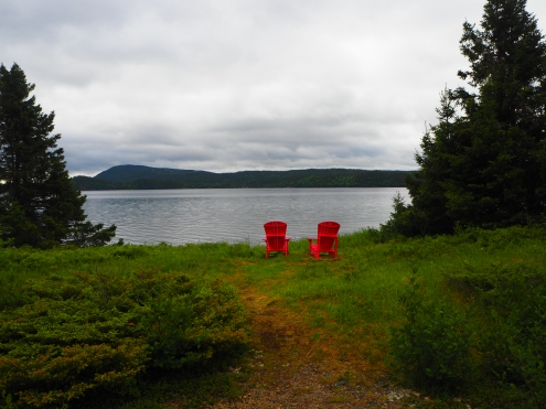 on the way to Twillingate. We are seeing these red chairs everywhere,by the way