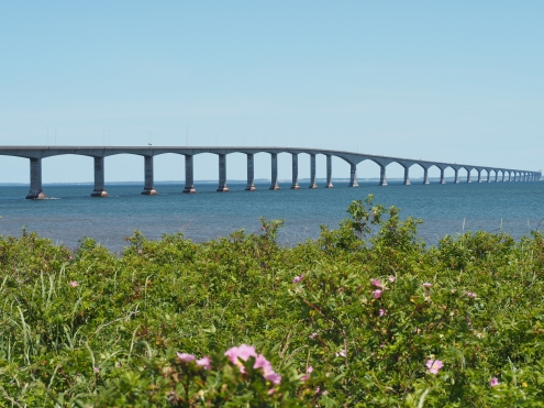 Confederation Bridge (connects PEI with New Brunswick and takes 10 minutes to cross)