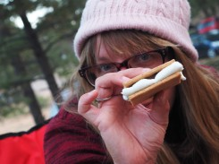 We had S'mores! We only did only campfire the whole trip, so to make it worthwhile, we HAD to have s'mores!