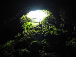 We visited the lava tube near Hana