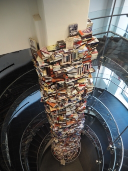 The Ford Theatre: Tower of books written about Lincoln
