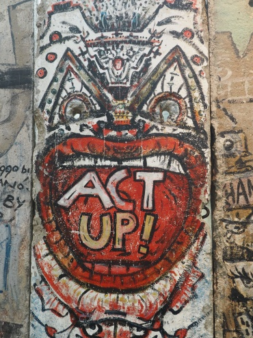 part of the Berlin Wall at the Newseum