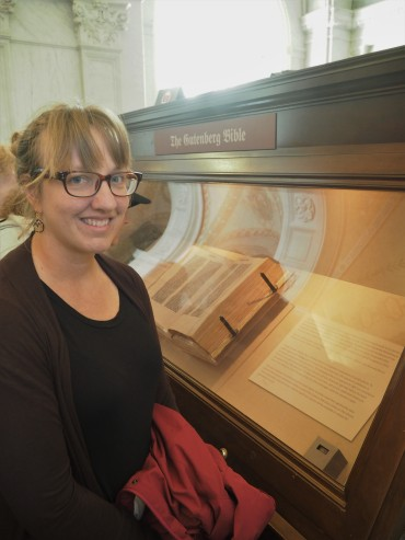 Me with the Gutenberg Bible