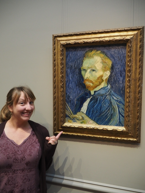 Me at the National Gallery with my pal Vincent