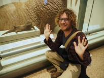 With his spirit animal at the Museum of Natural History