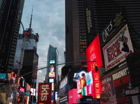 Times Square and where you can get discounted show tickets