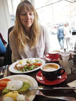 our first breakfast in England
