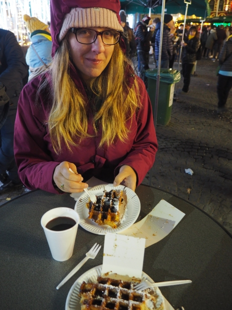 Different day: normal waffle with chocolate