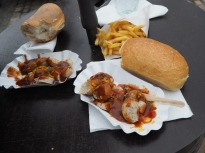 delicious currywurst