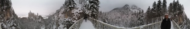 We hiked up to this bridge which is technically closed in winter...