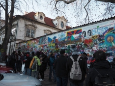 allll the people at the Lennon Wall